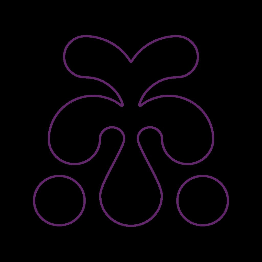 AYA Farmery logo grafisches Element freigstellt lila